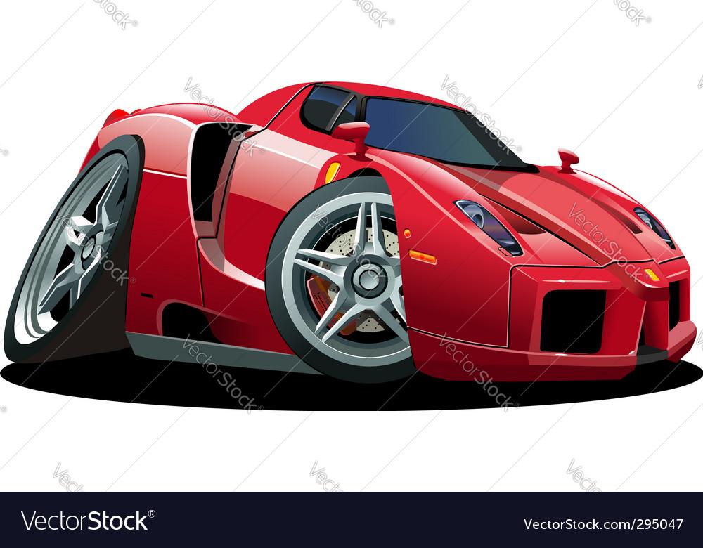 Cartoon sport car vector image