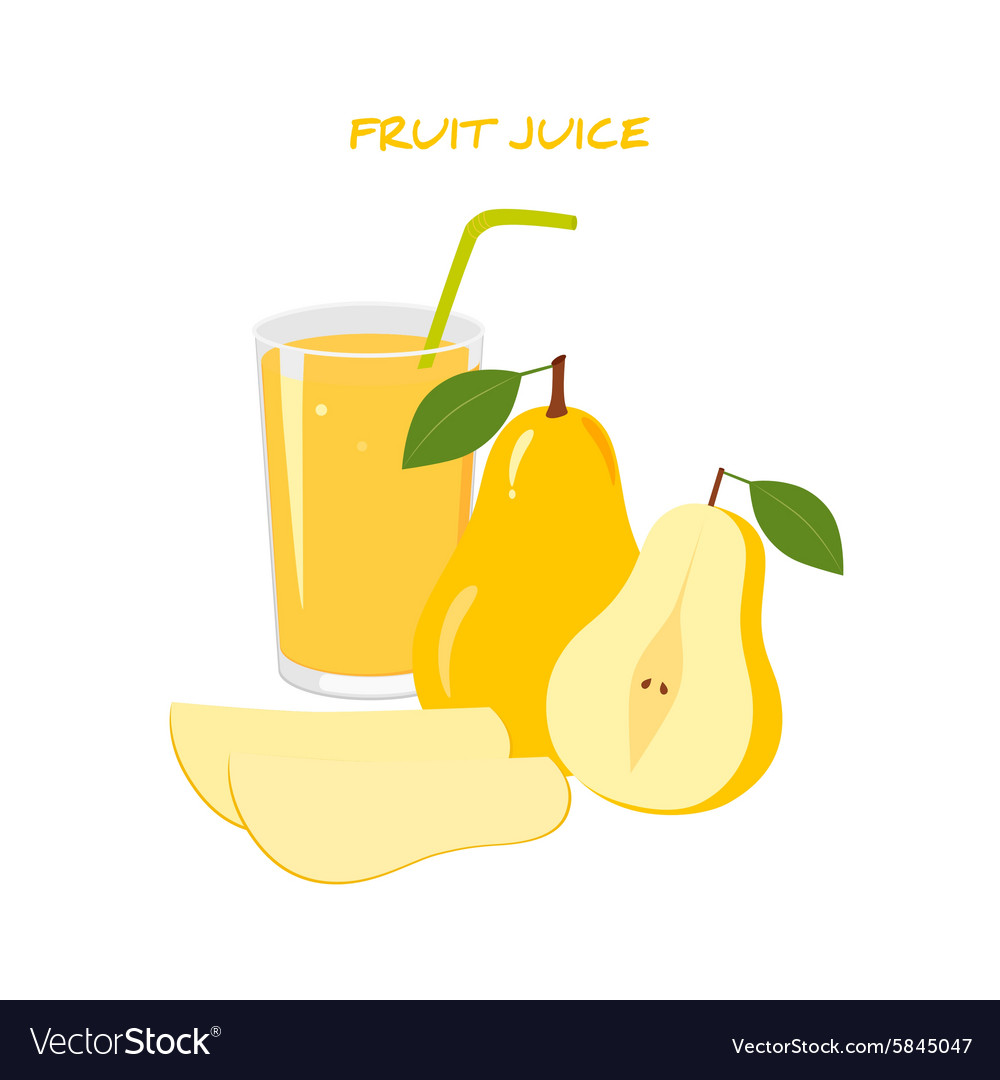Natural Fresh Pear Juice vector image