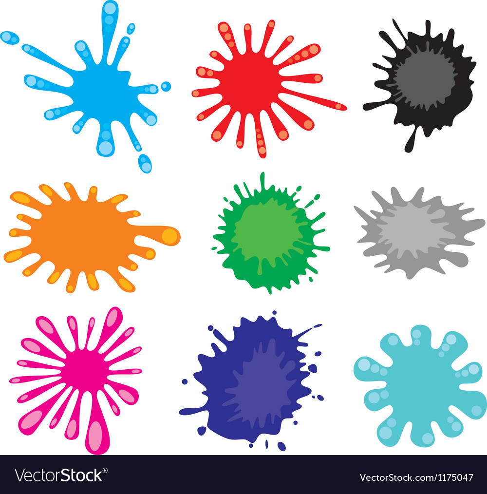 Stains-ink blot vector image