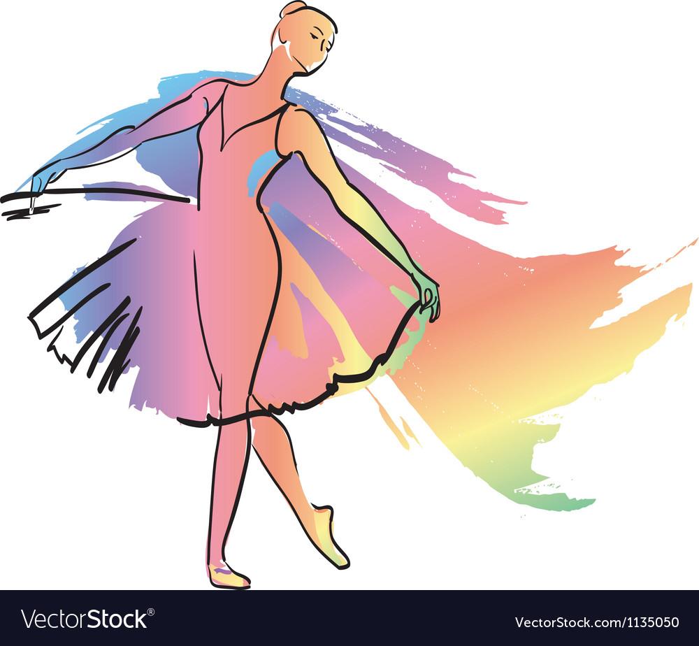 The woman dances ballerina Vector Image