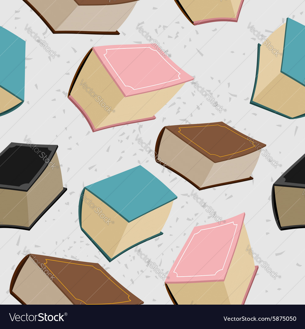 Old big book seamless pattern background of books vector image