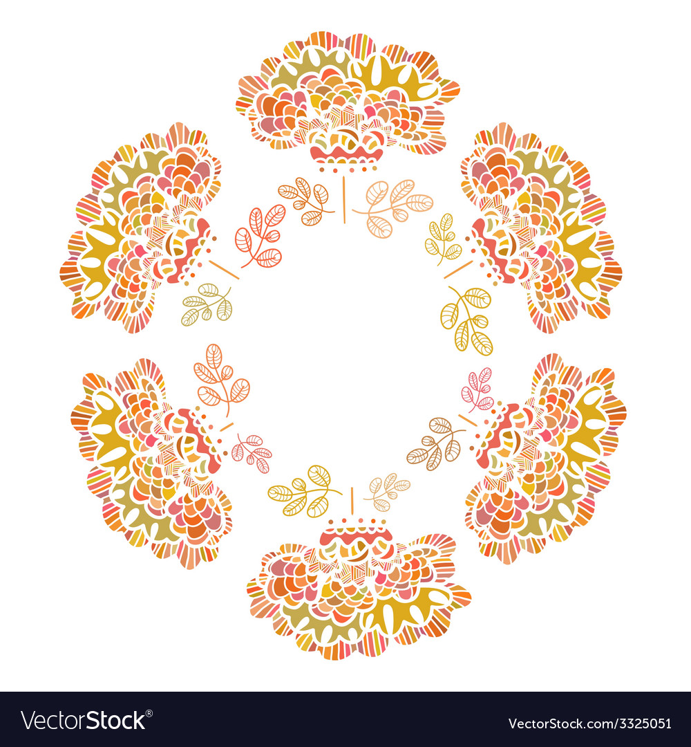 Beautiful flower drawn by hand Perfect floral card vector image