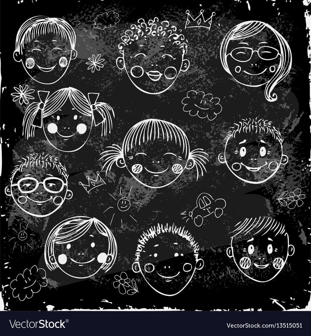 Children group vector image