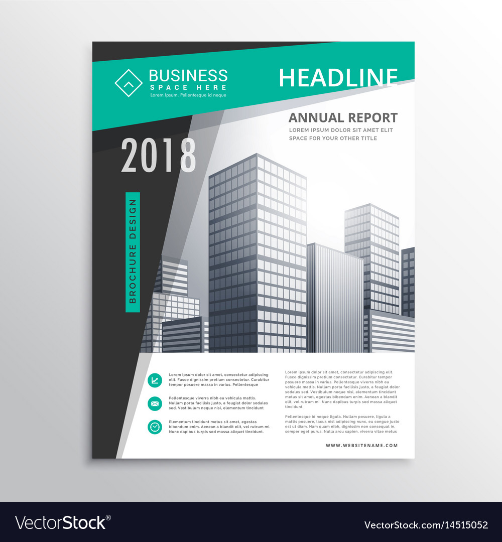 Awesome business brochure flyer design template vector image