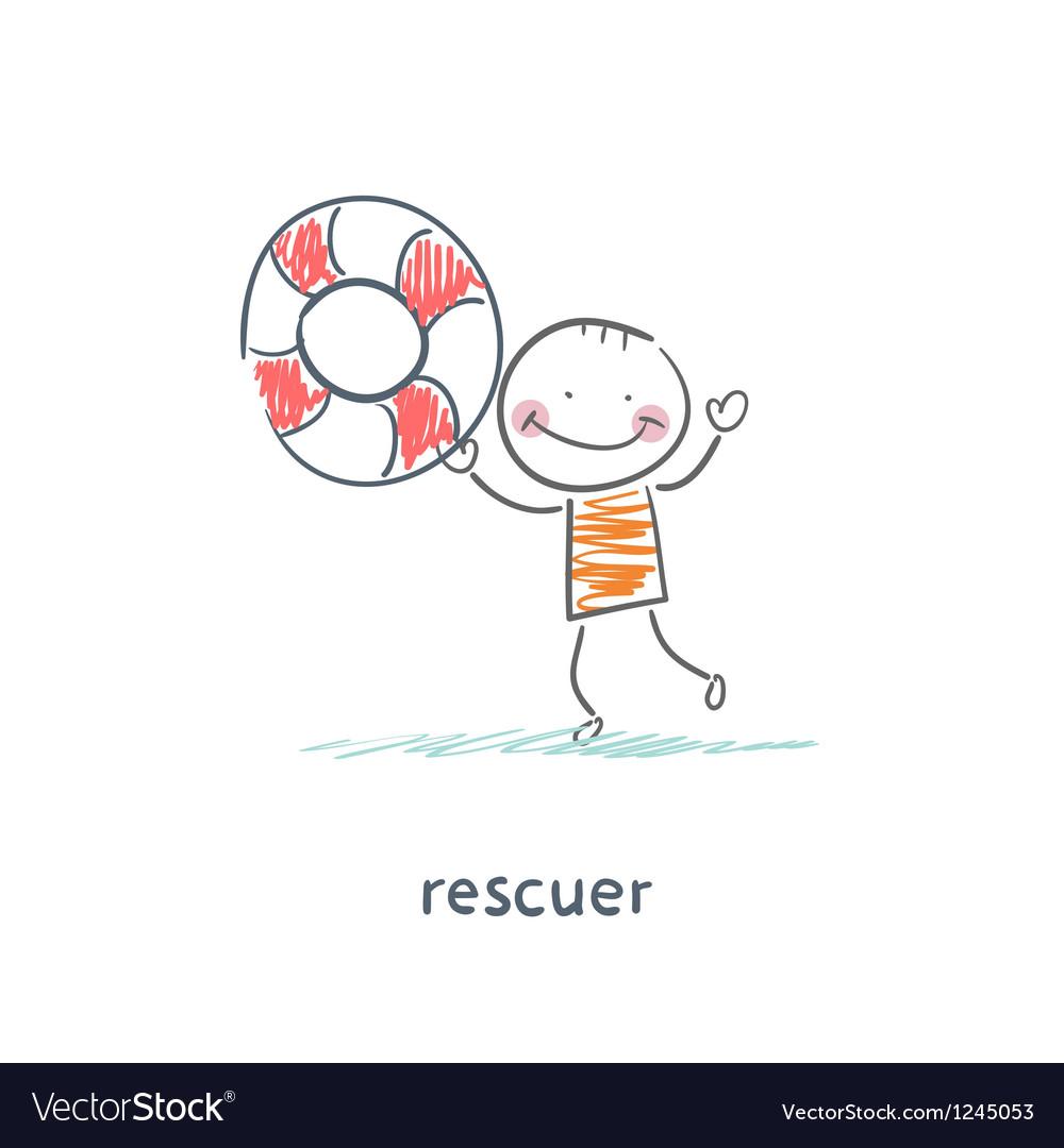 Rescuer vector image