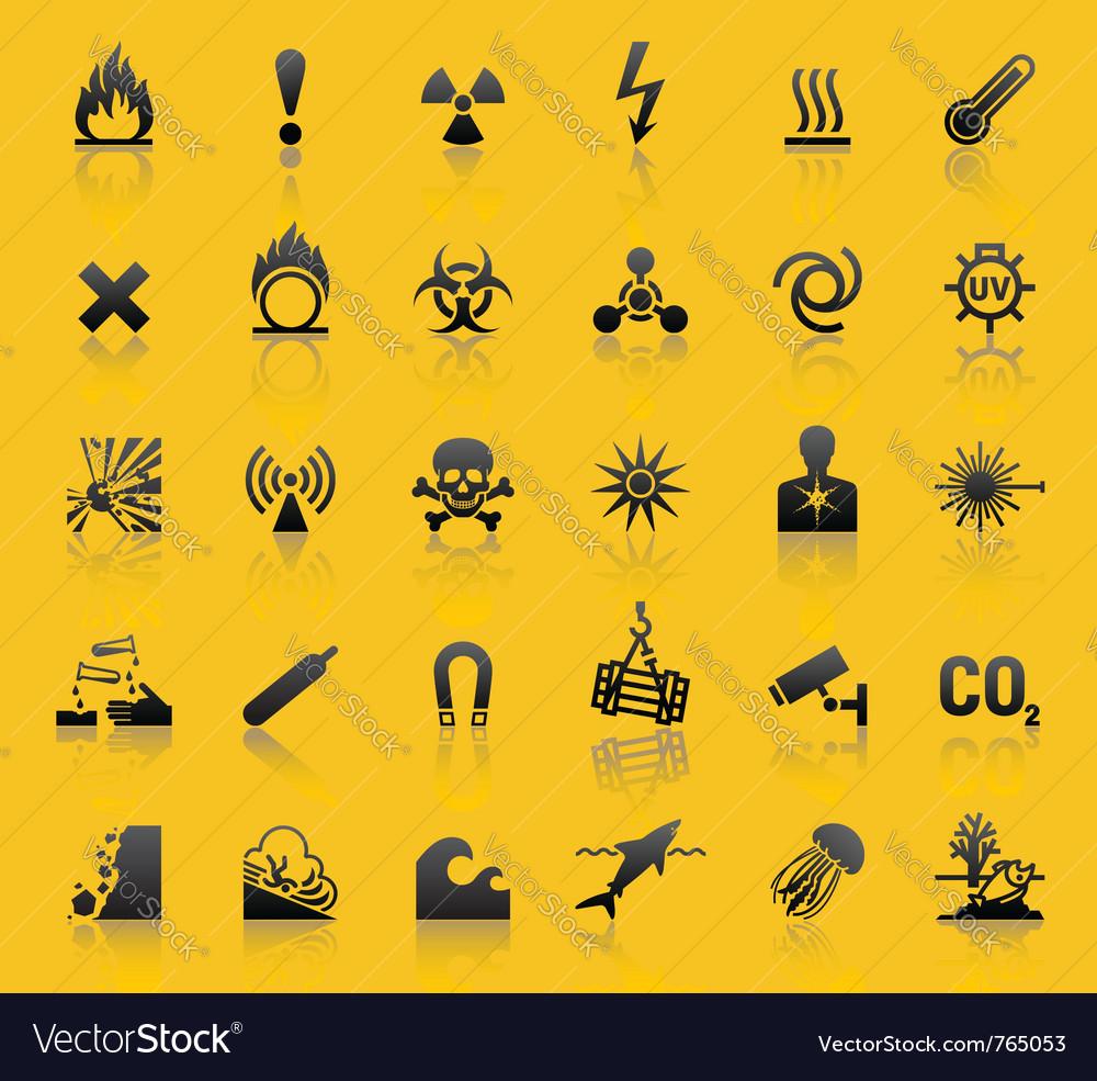 Hazard warning sign vector image