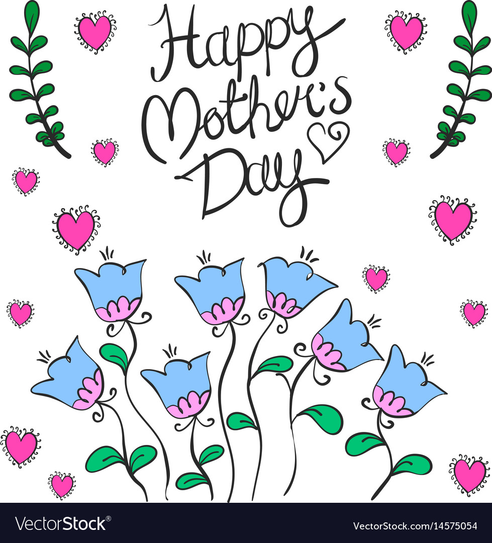 Happy mother day greeting card vector image