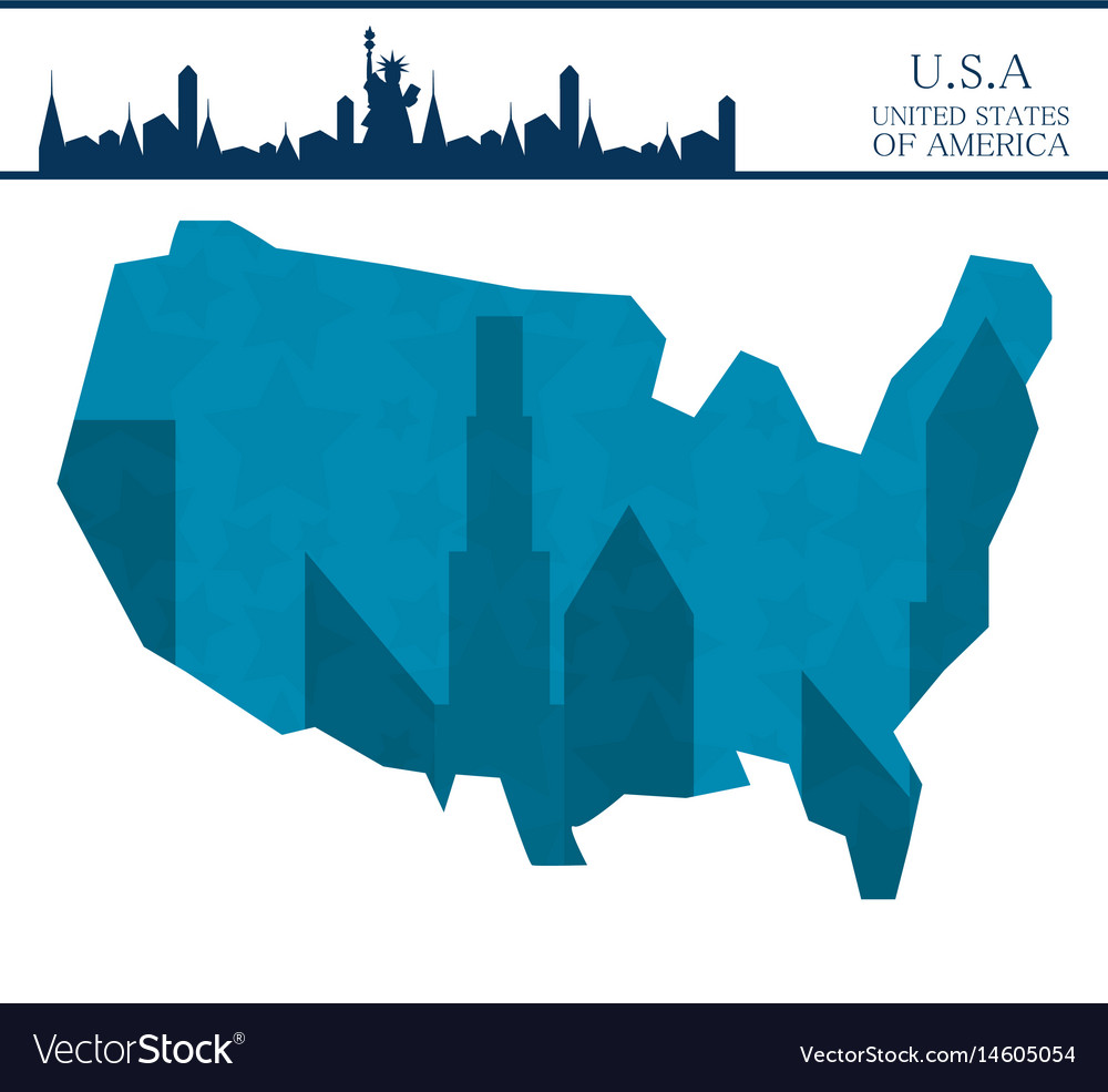 Nice new york city with statue of liberty vector image