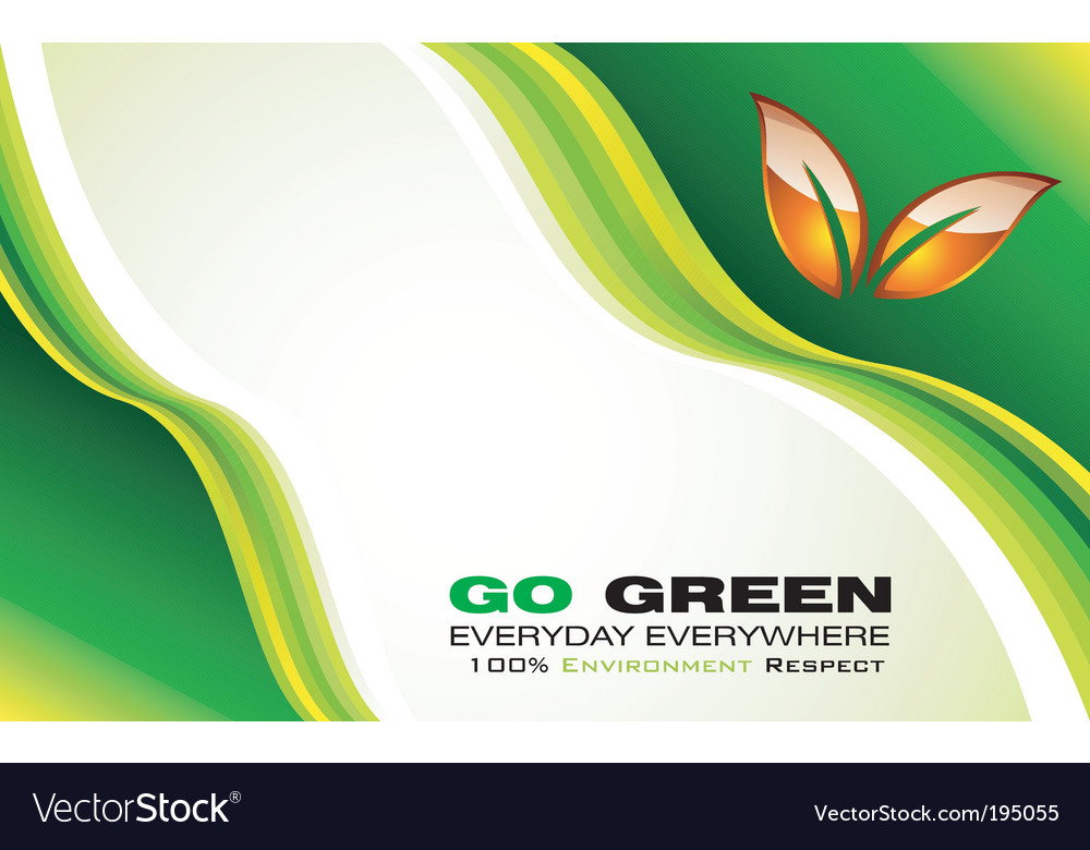 Eco card template vector image