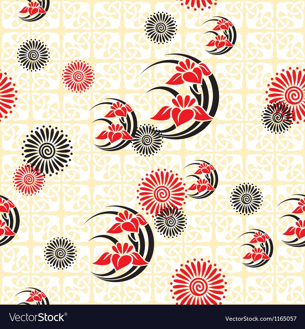 Japan floral background vector image