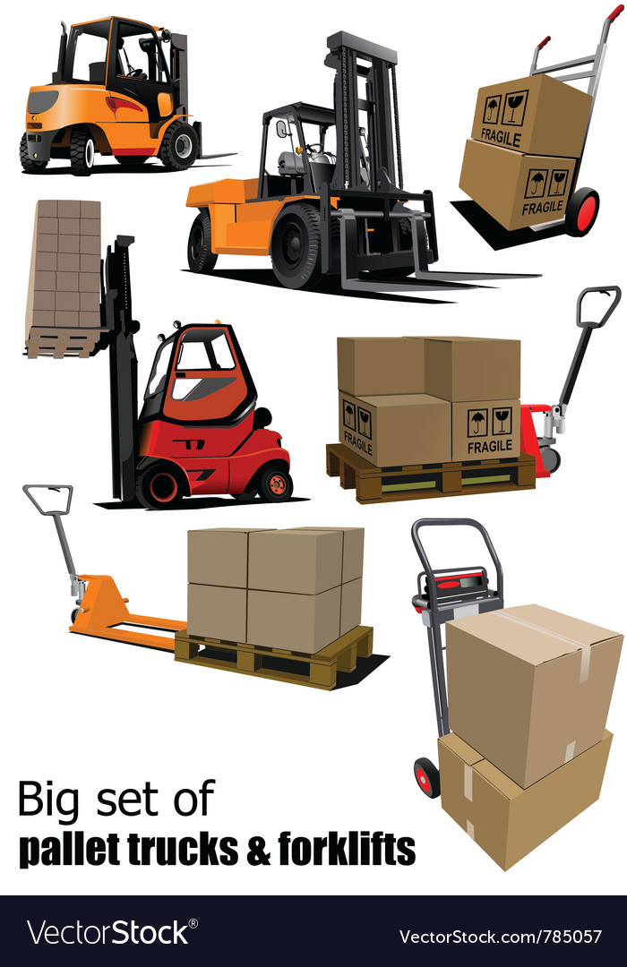 Packaging and forklift vector image