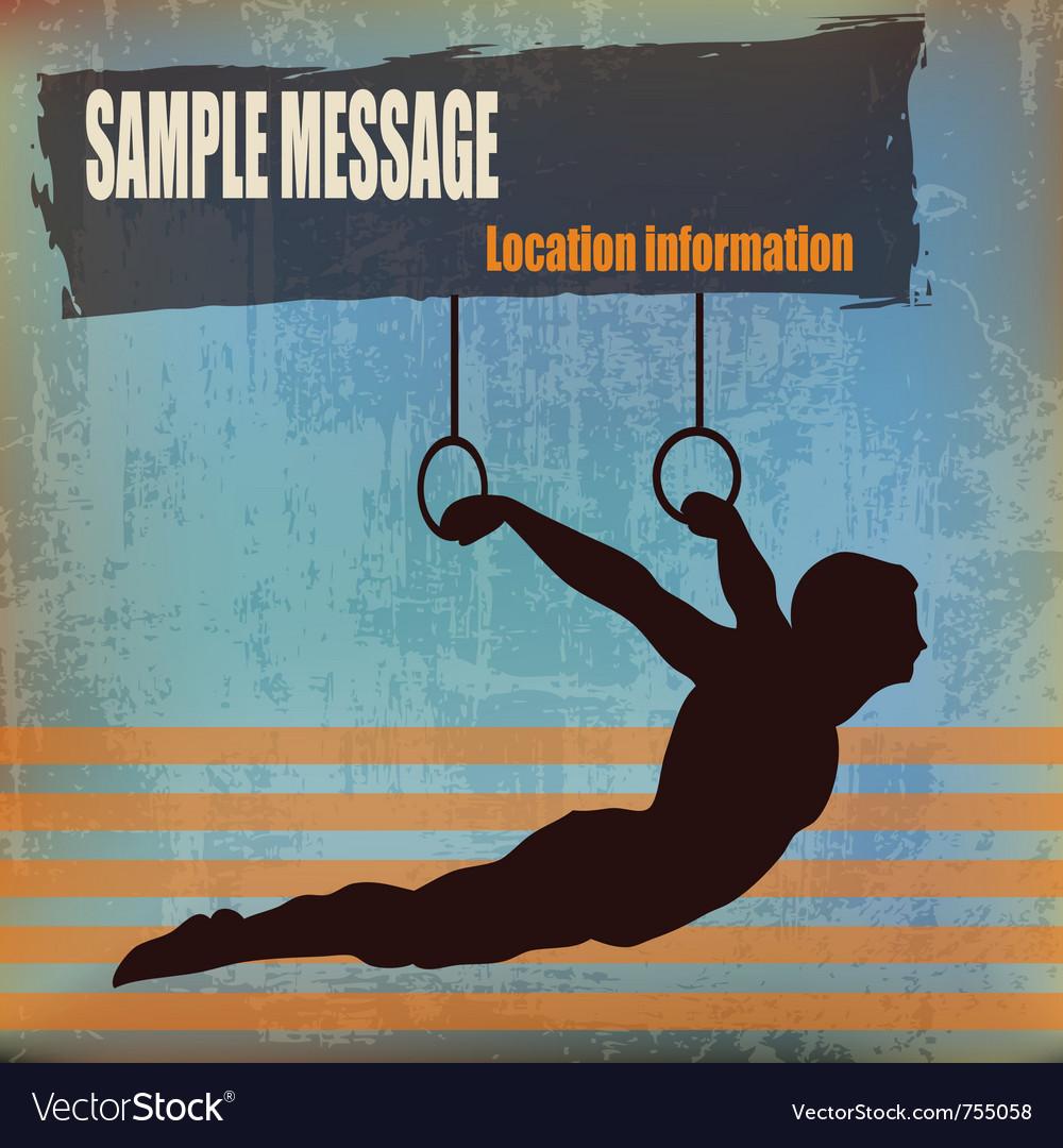 Gymnast background vector image
