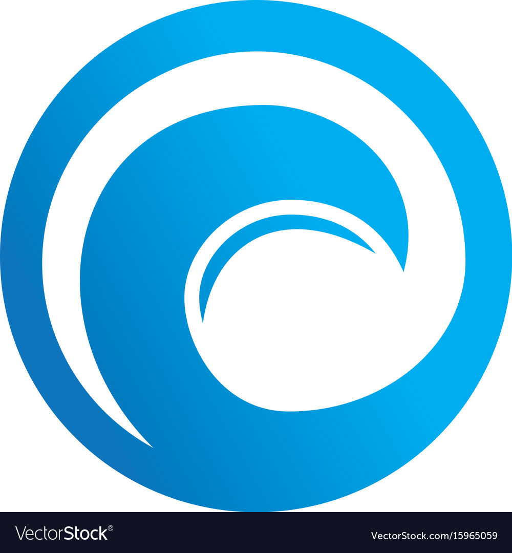 Abstract circle wave logo vector image