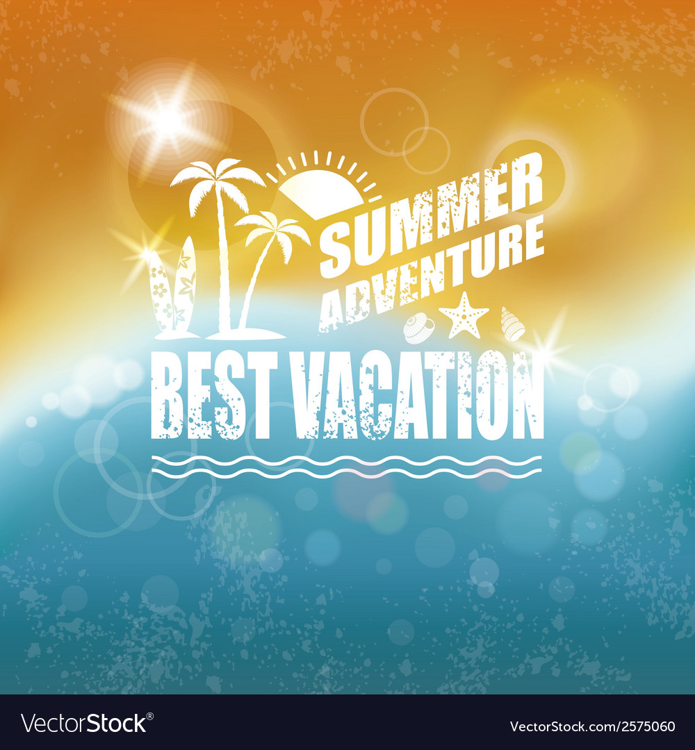Abstract Summer background vector image