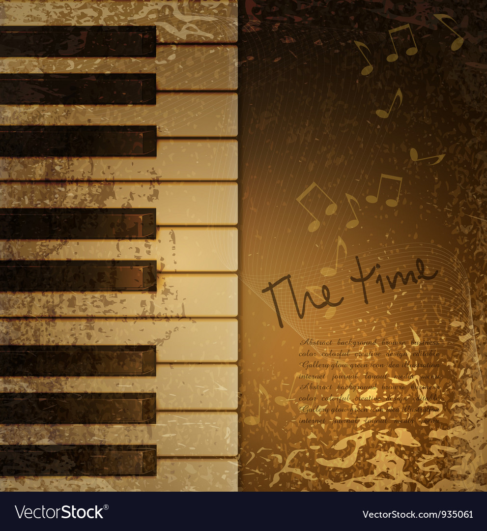 Piano vintage vector image
