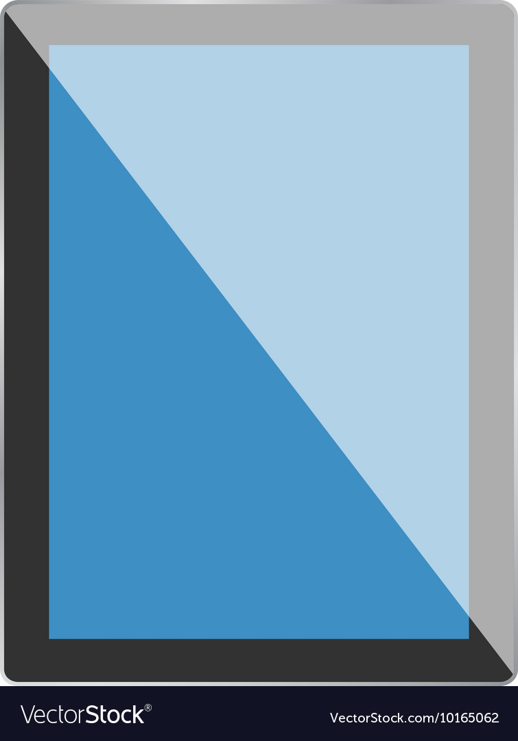Black tablet computer vector image