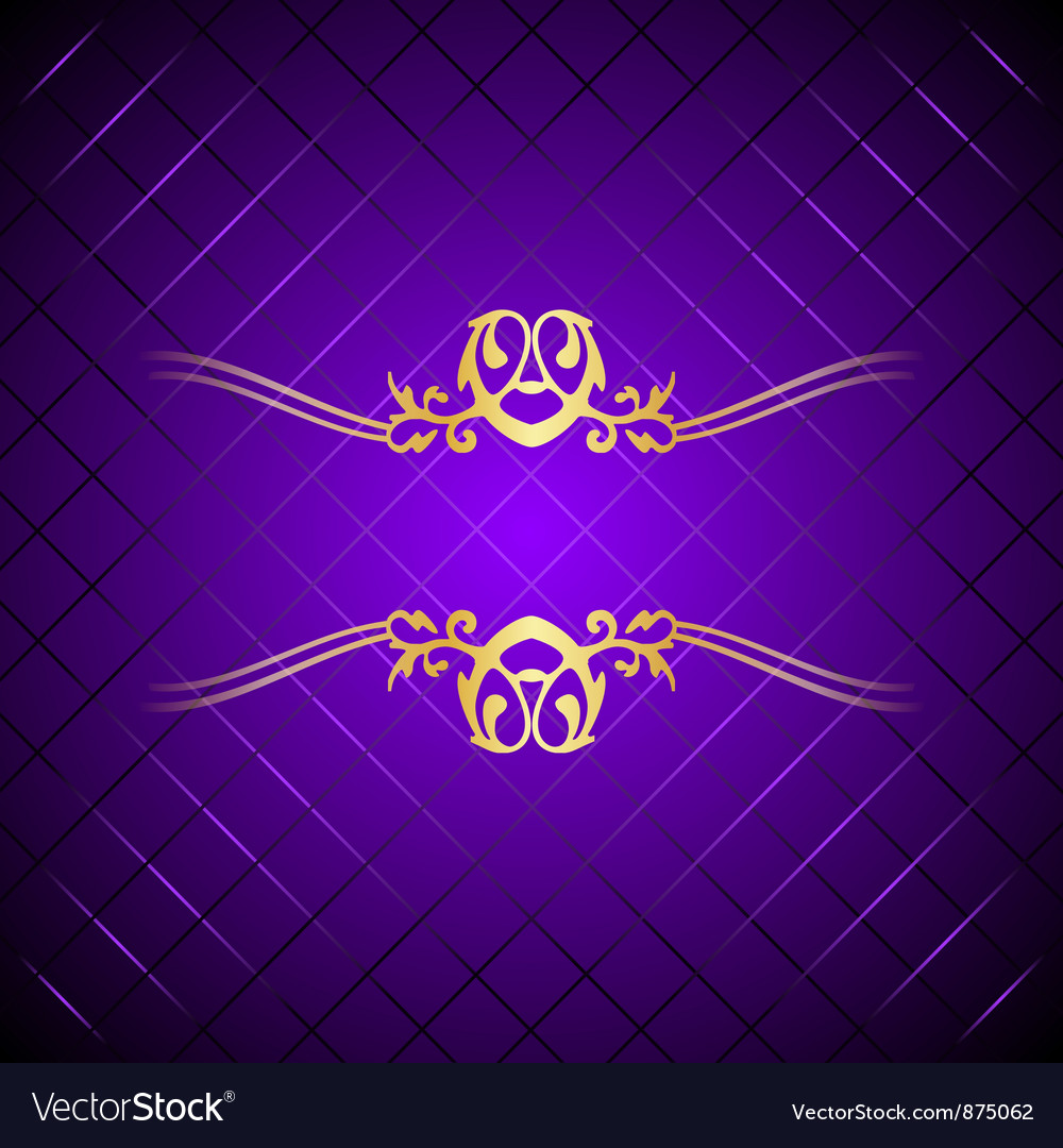 Purple gold background square Royalty Free Vector Image