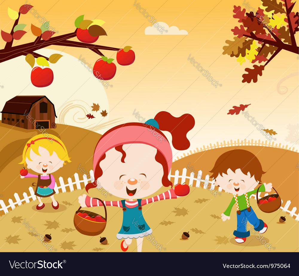 Happy Harvest vector image