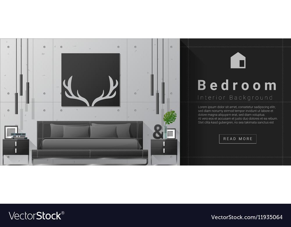 Interior design Modern bedroom background 8 vector image