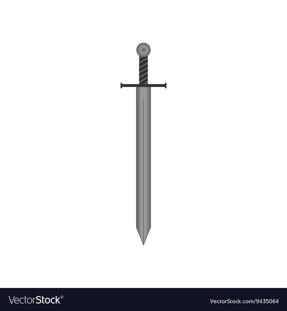 Sign sword silver 805 vector image