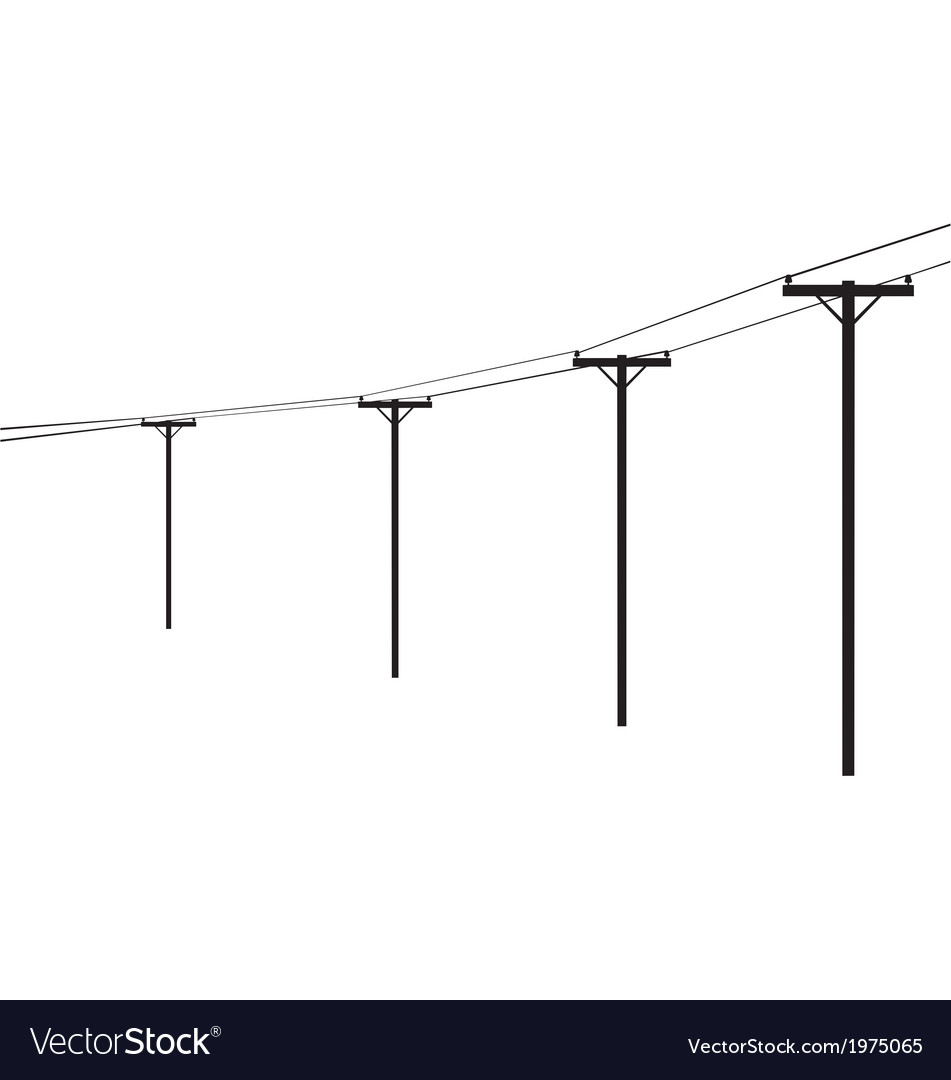 Telegraph poles vector image
