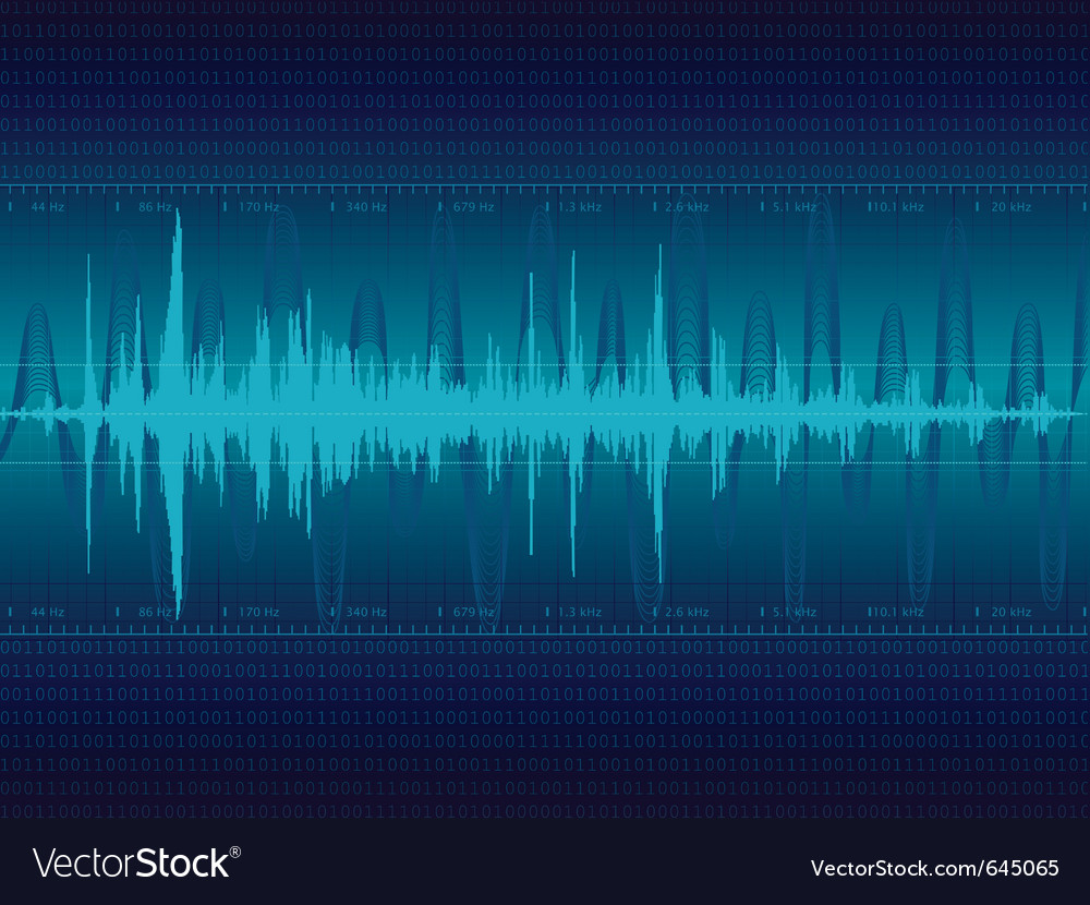 Audio waveform background vector image