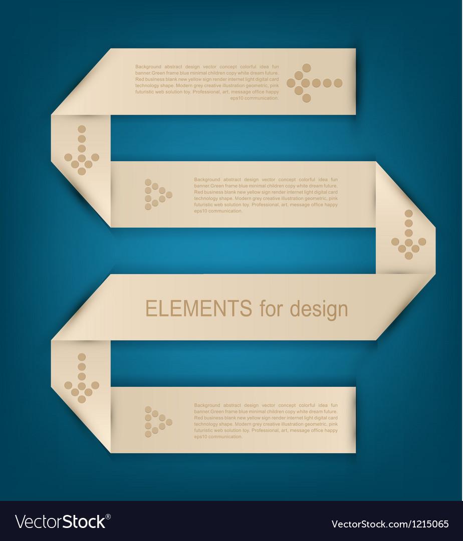Paper design element for business vector image