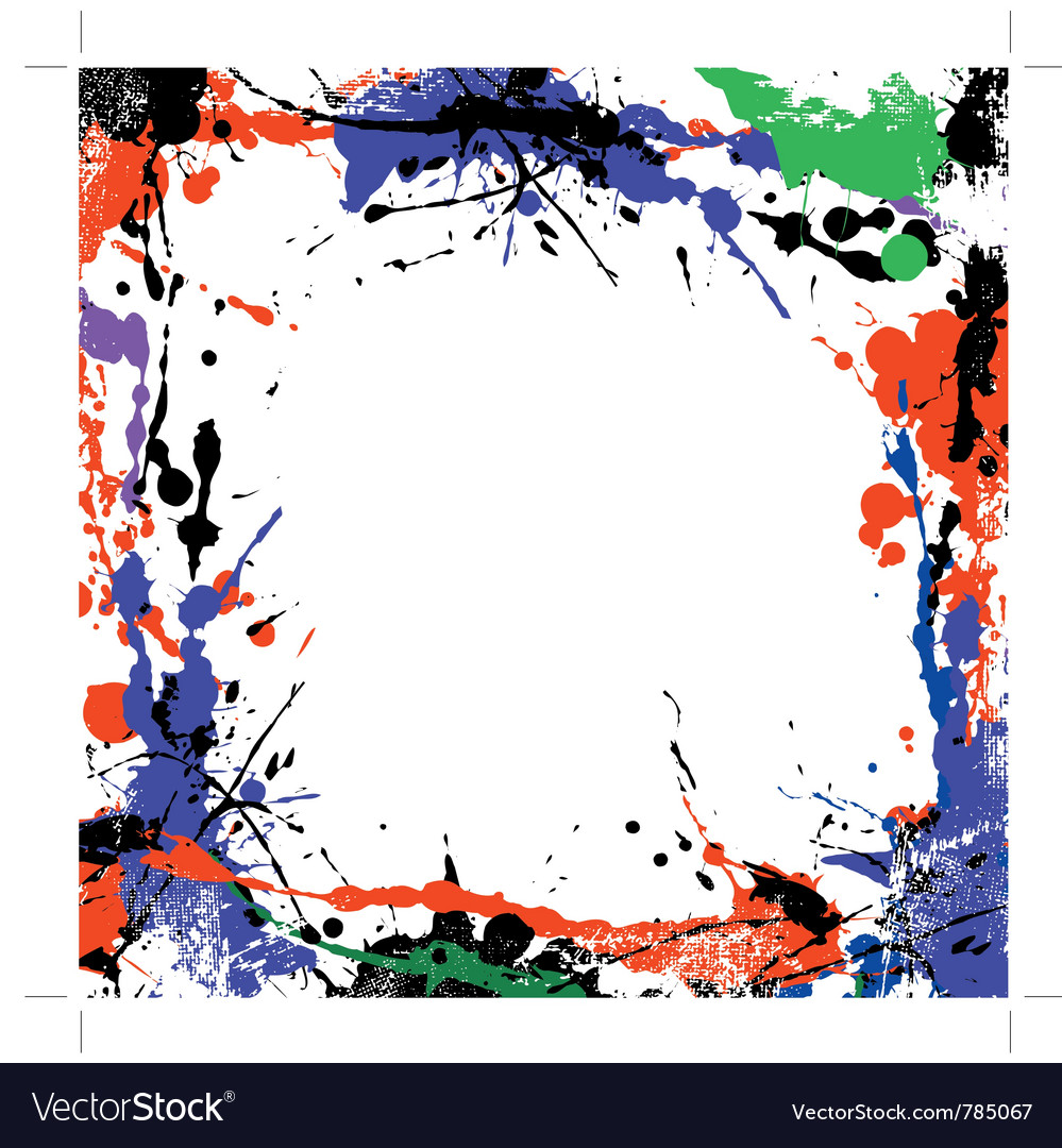 Coloured grunge art vector image