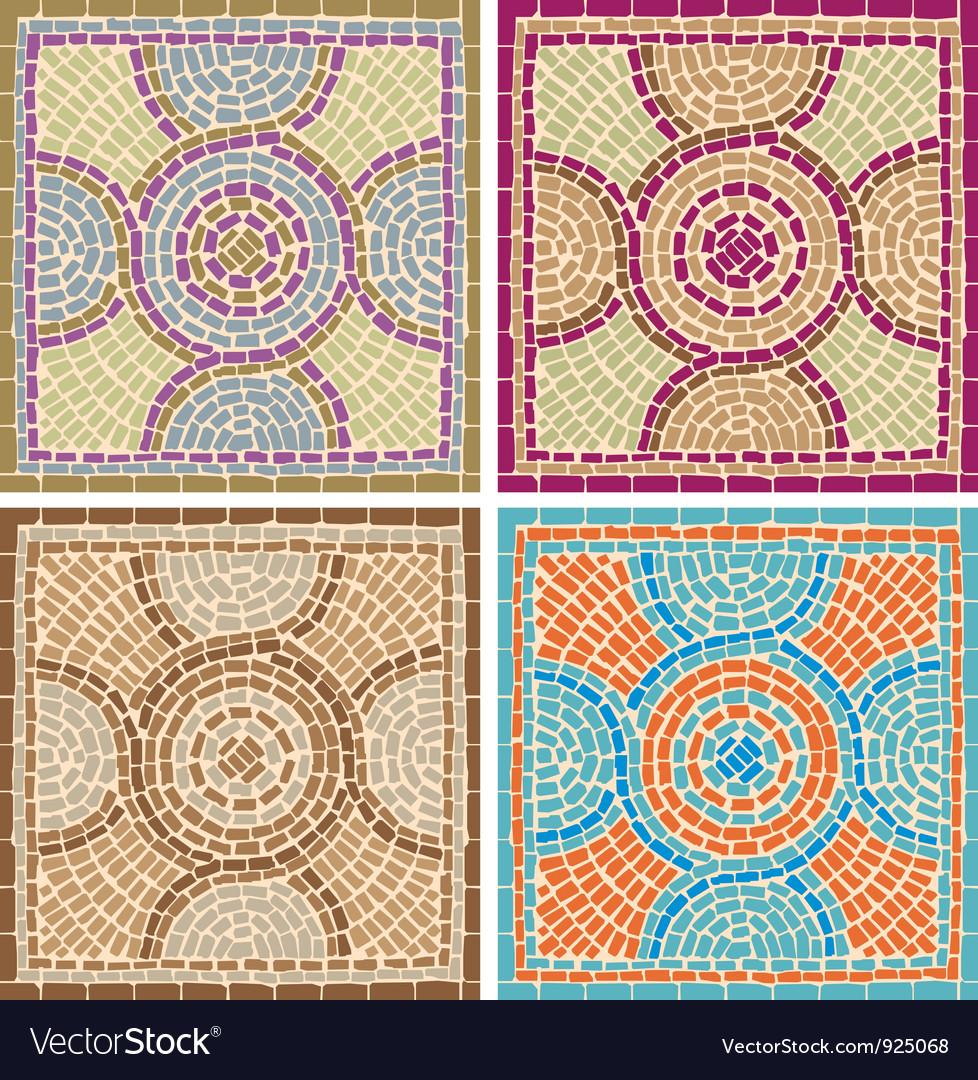 Antique mosaics vector image