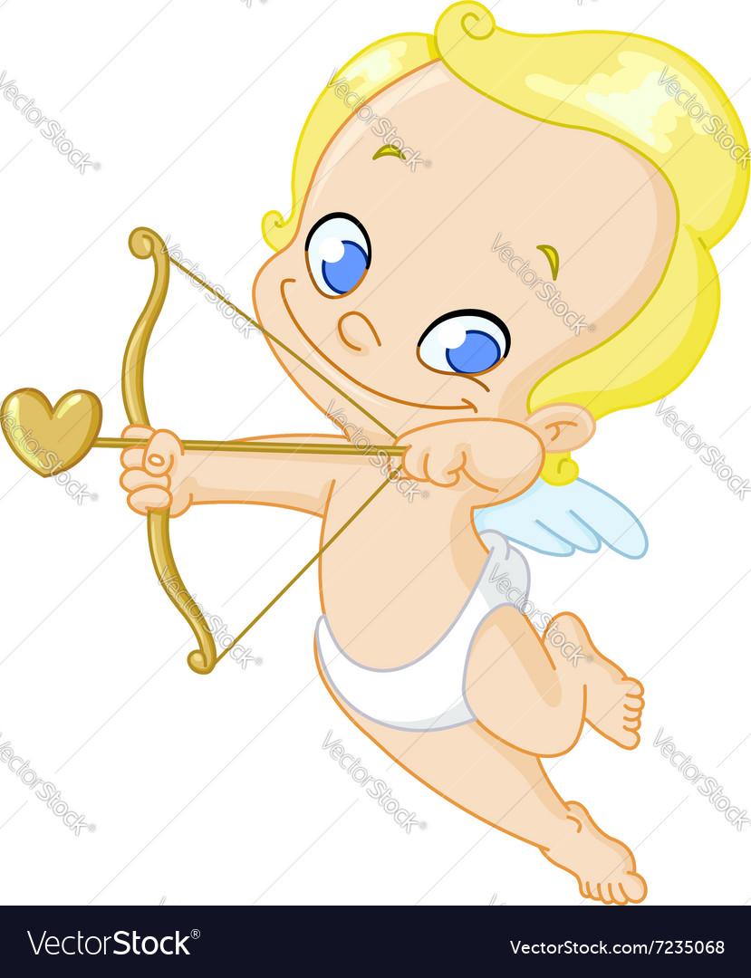 Cupid with arrow vector image