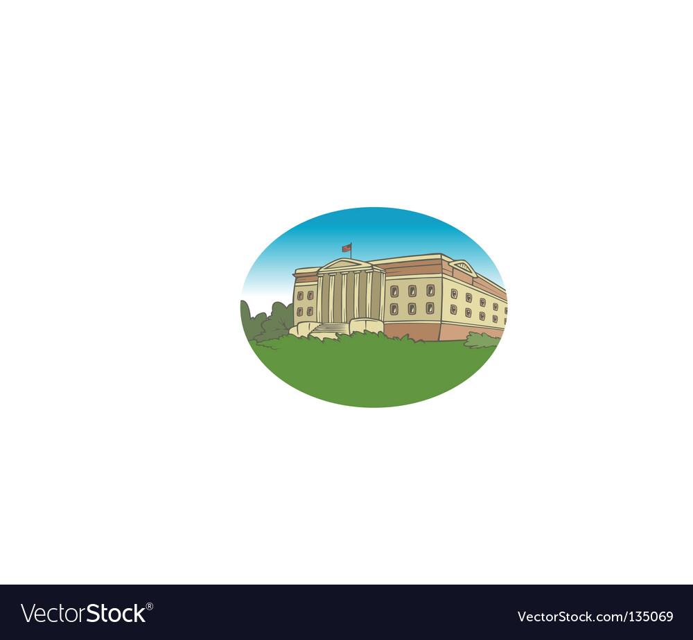 University background vector image