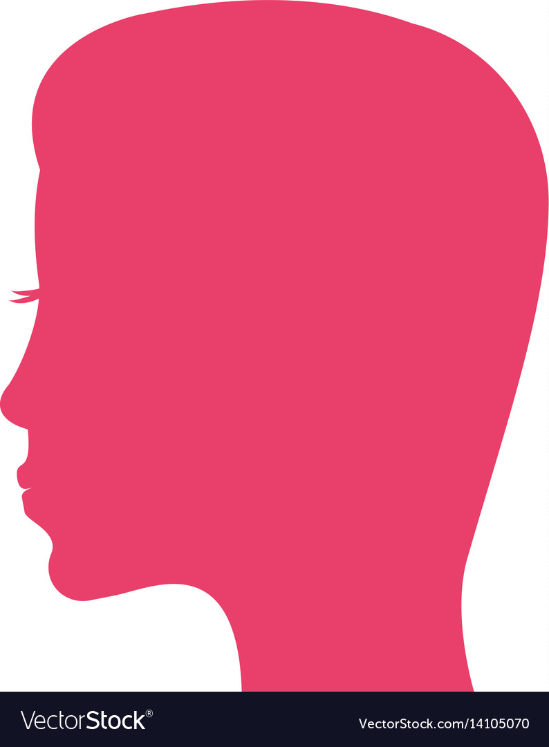 Pink silhouette woman mother vector image