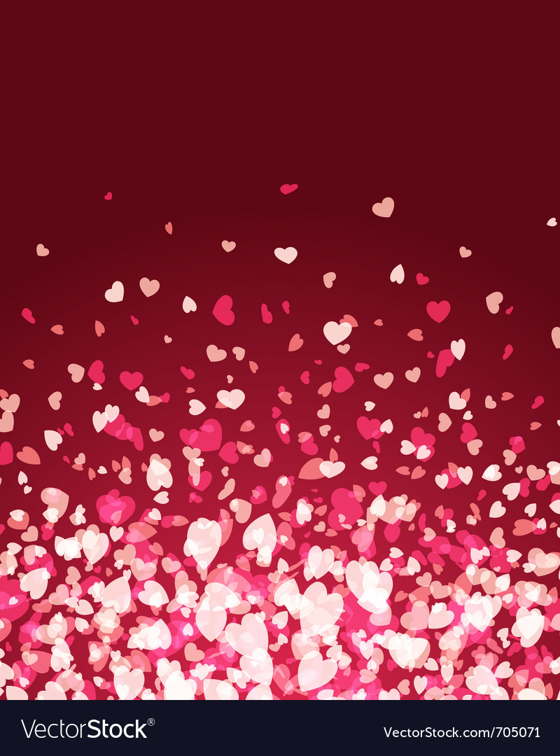 Flying hearts background vector image