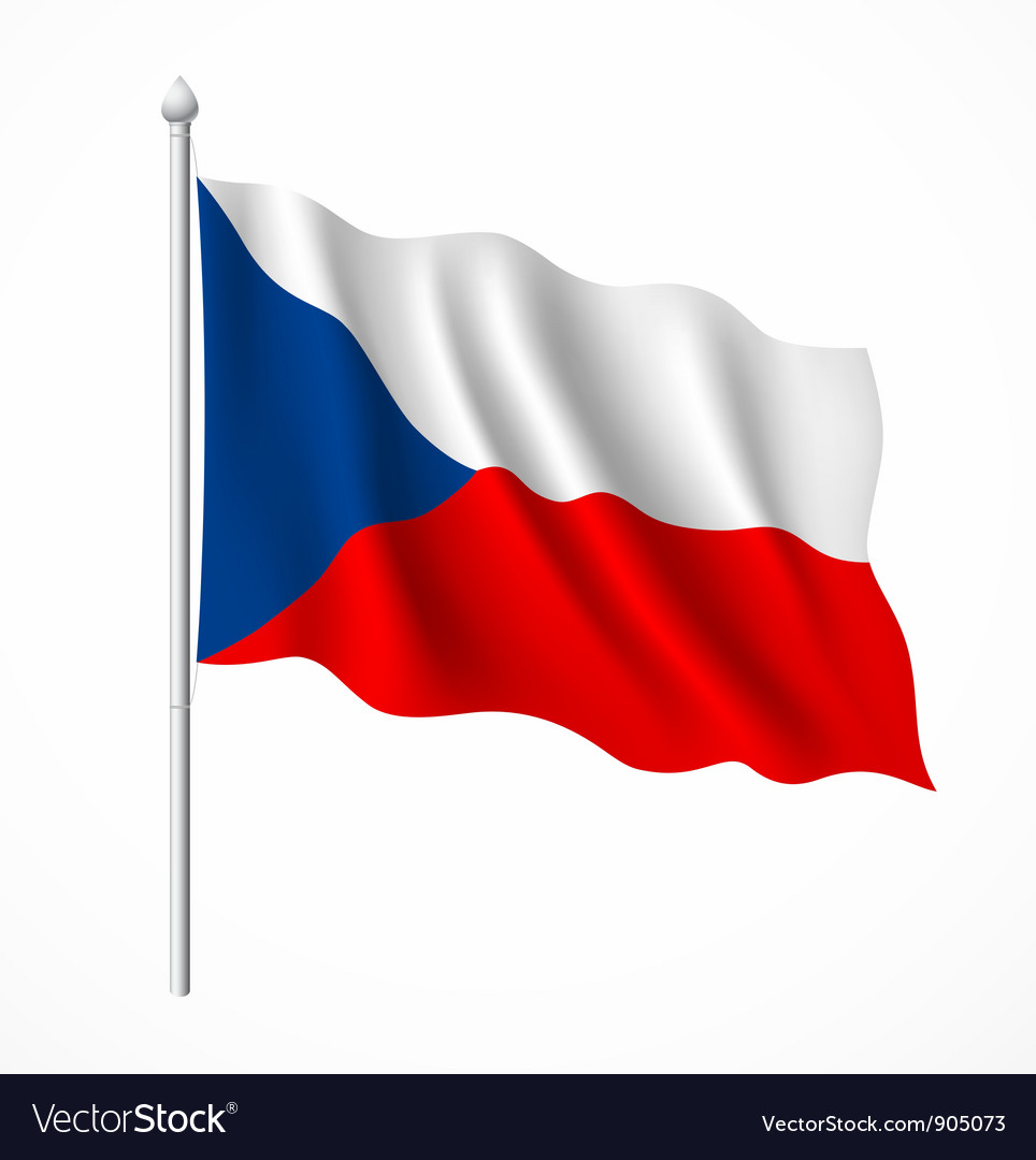 Czech Republic flag Royalty Free Vector Image - VectorStock