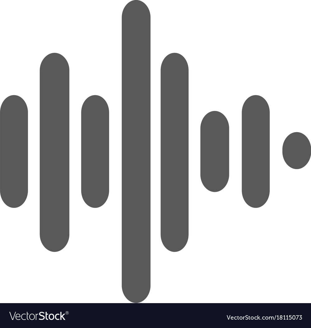 Sound wave icon simple vector image