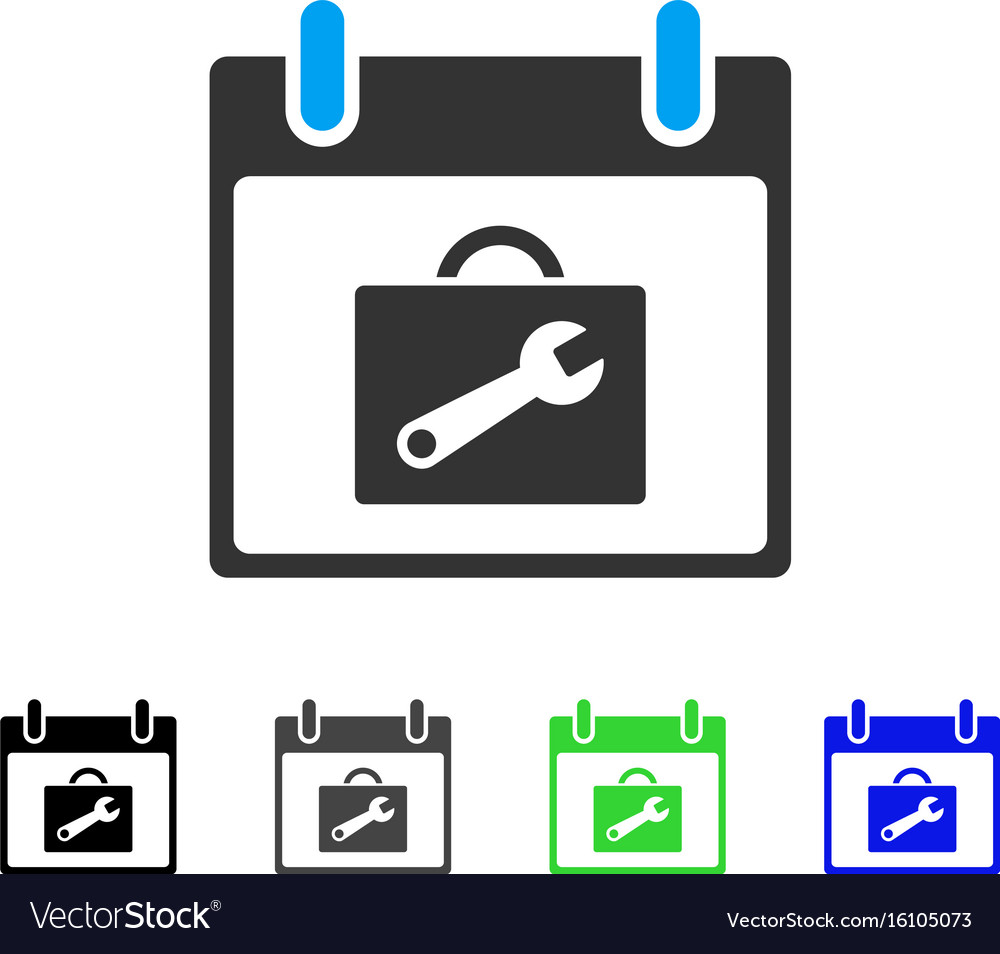 Toolbox calendar day flat icon vector image