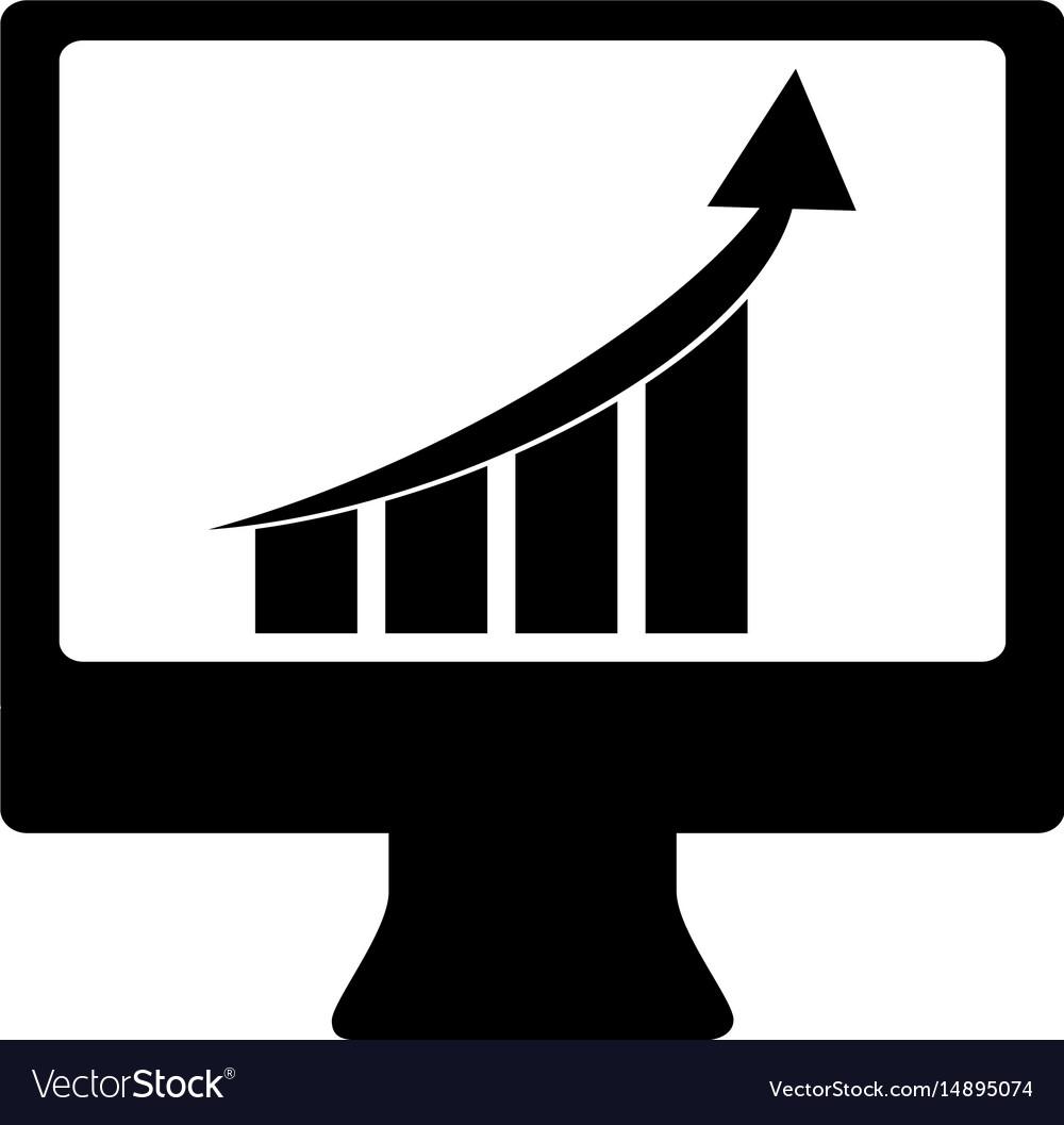 Financial charts icon vector image