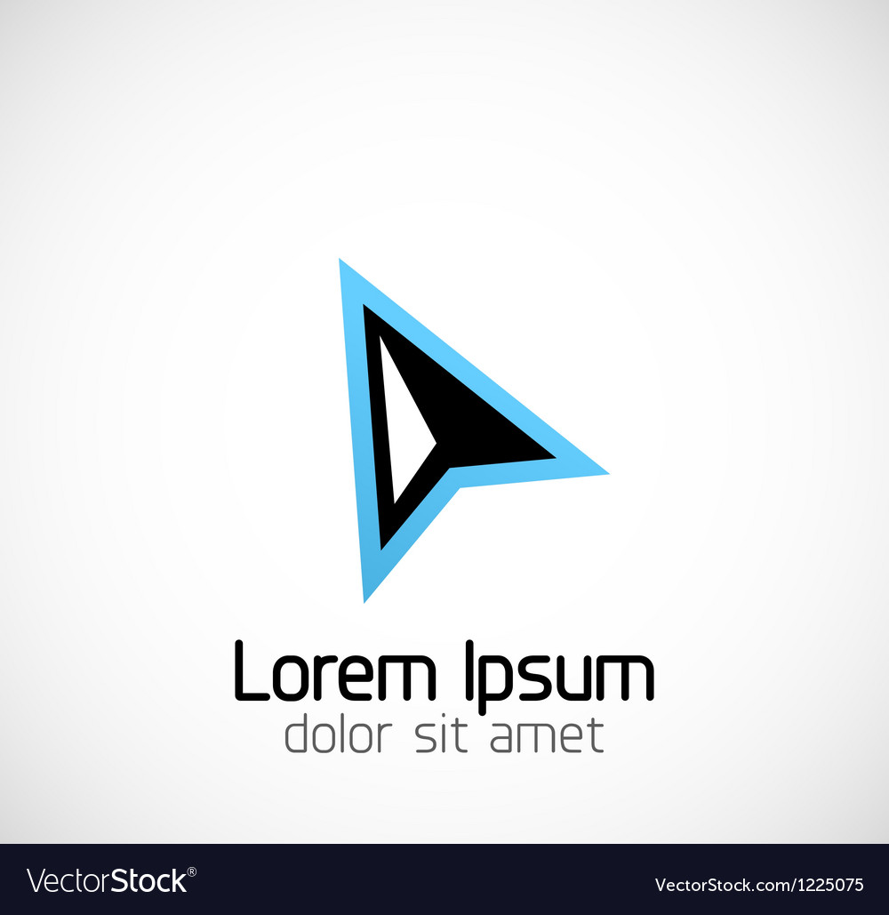 Abstract geometric business symbol vector image