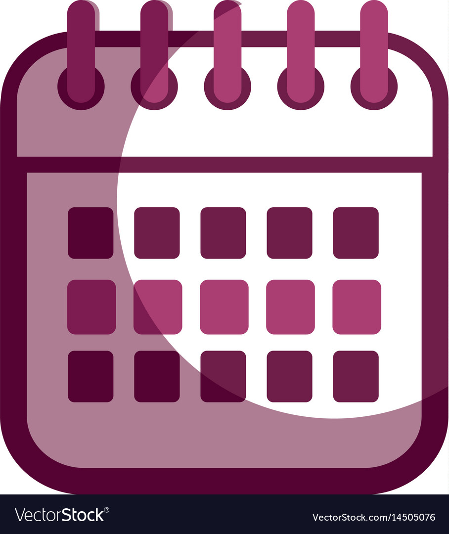 Contour calendar date remember business events vector image