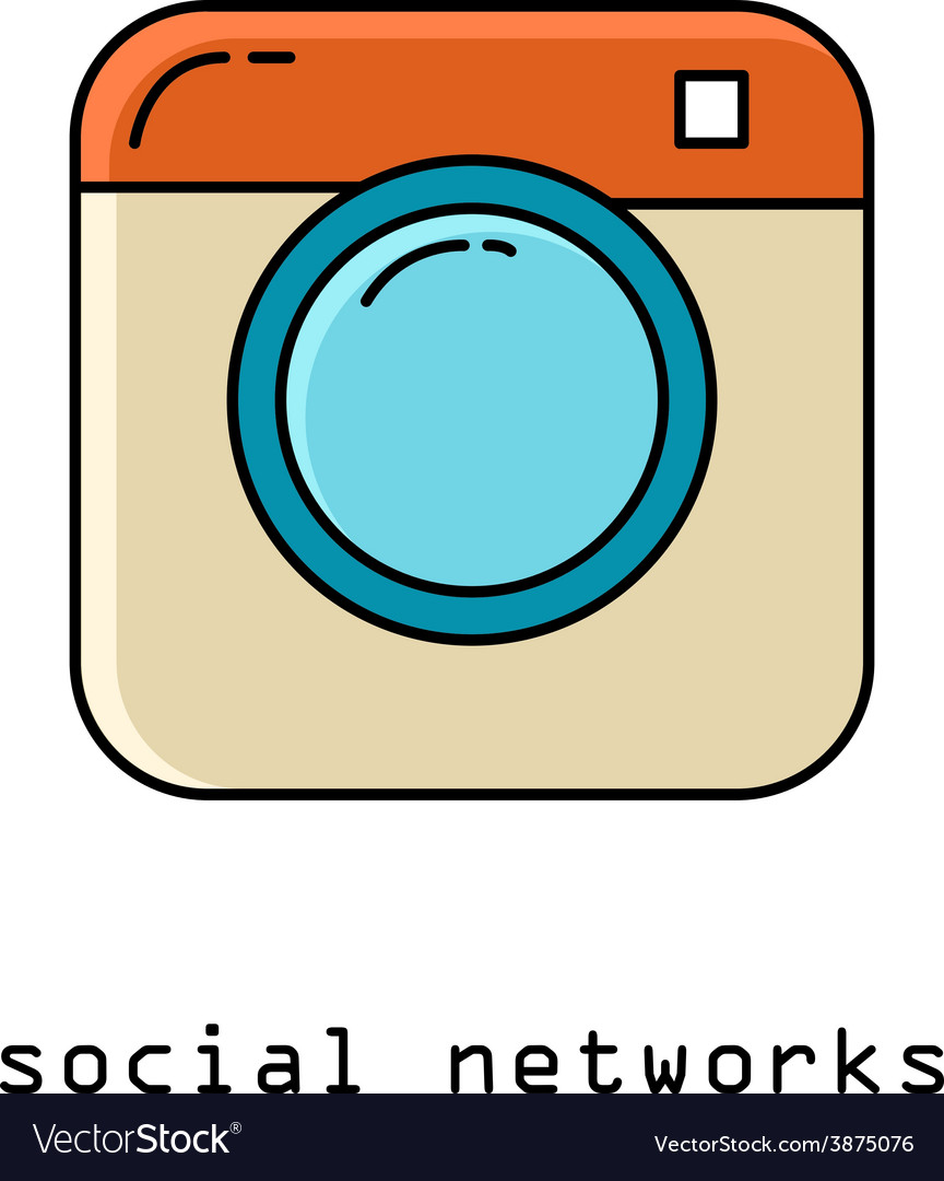 Flat icons for web and mobile applications Camera vector image
