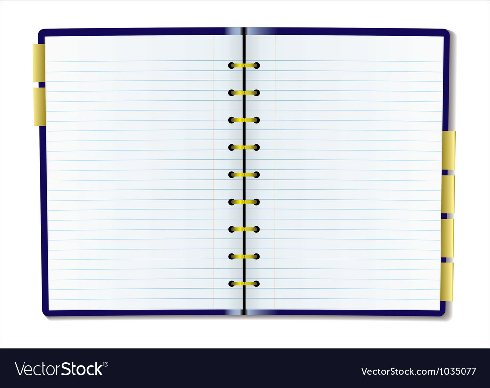 Blank diary page vector image