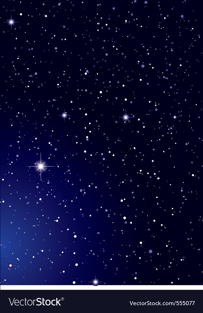 Dark nights sky with stella galaxy and twinkle sta vector image