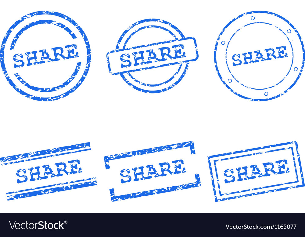 Share stamps vector image