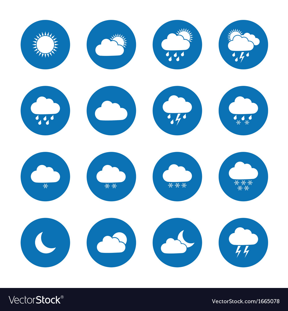 Flat weather icons vector image