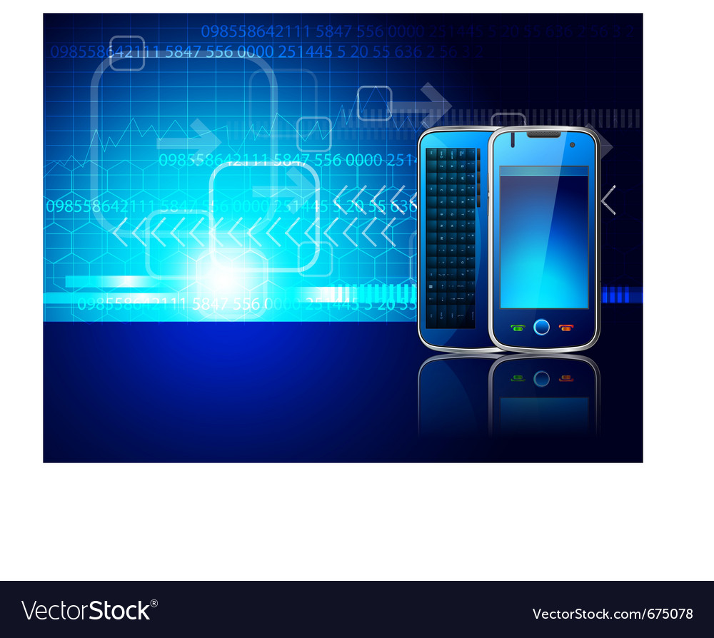 Mobile and technology vector image