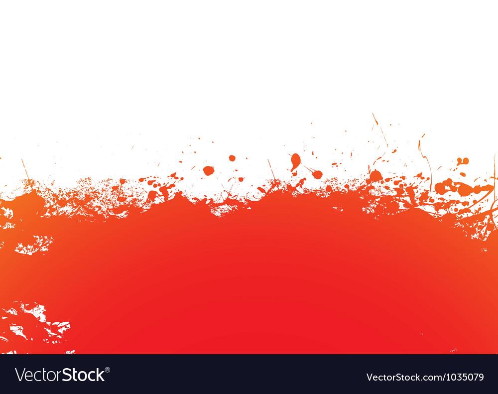 Orange splat band vector image
