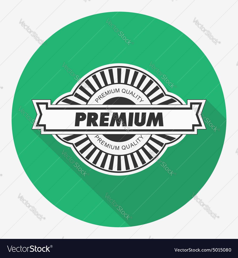 Premium quality label Flat vector image