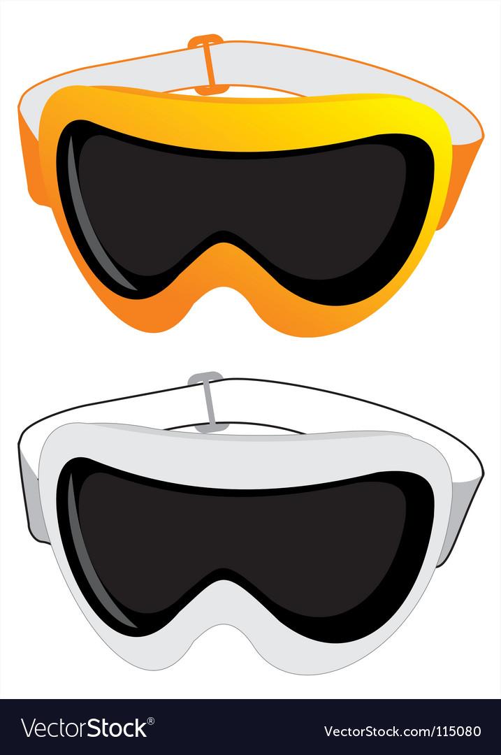 Ski glasses vector image