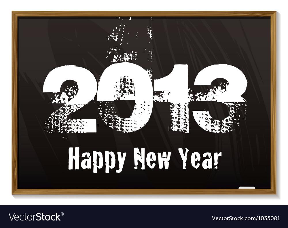 Blackboard 2013 vector image