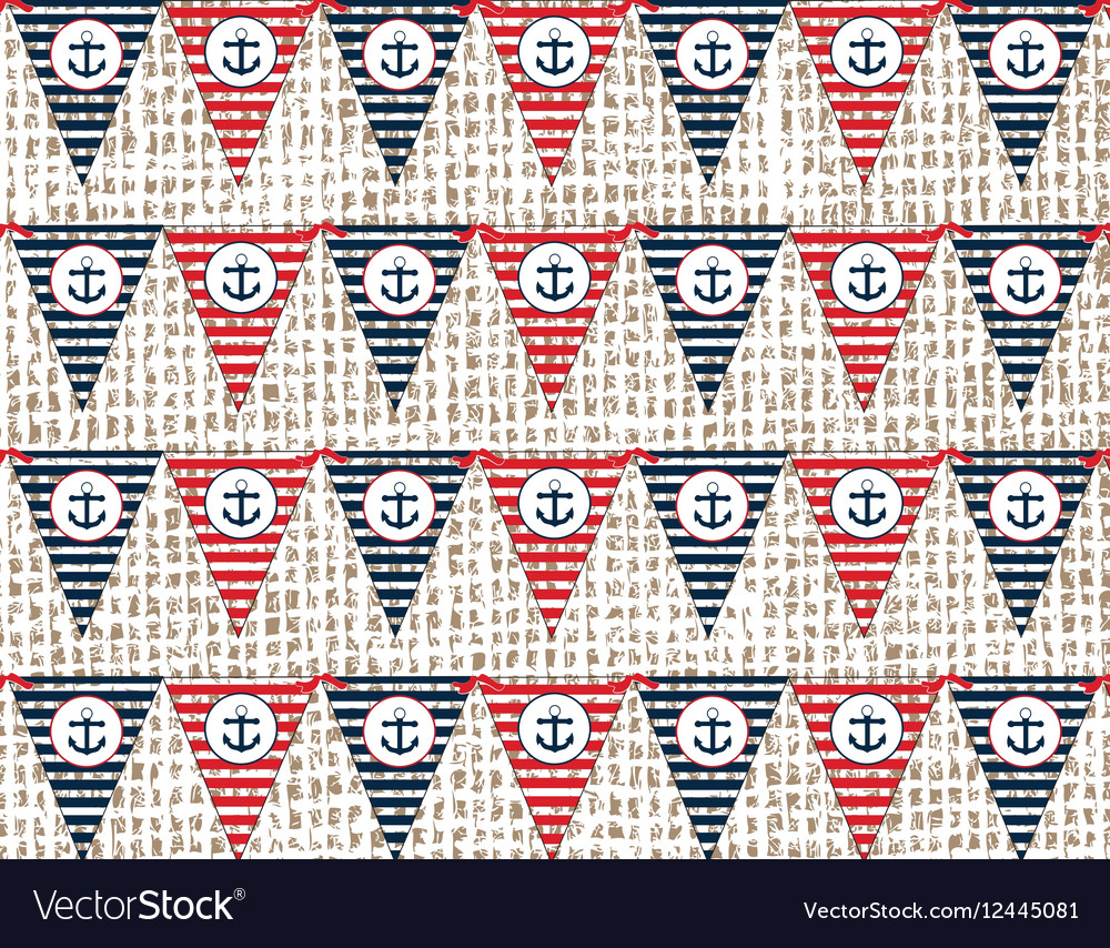 Nautical or marine flags pattern vector image